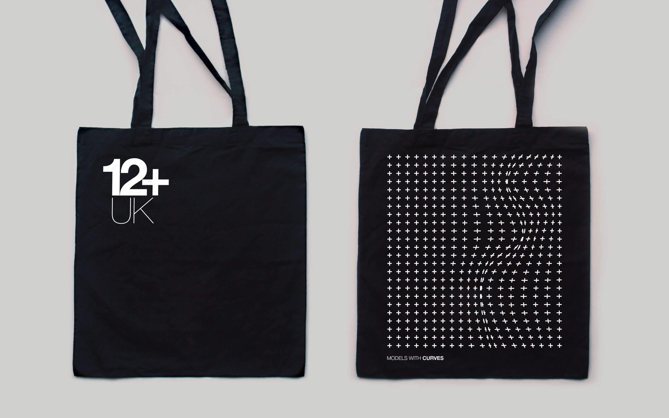 12+ UK model agency tote bags