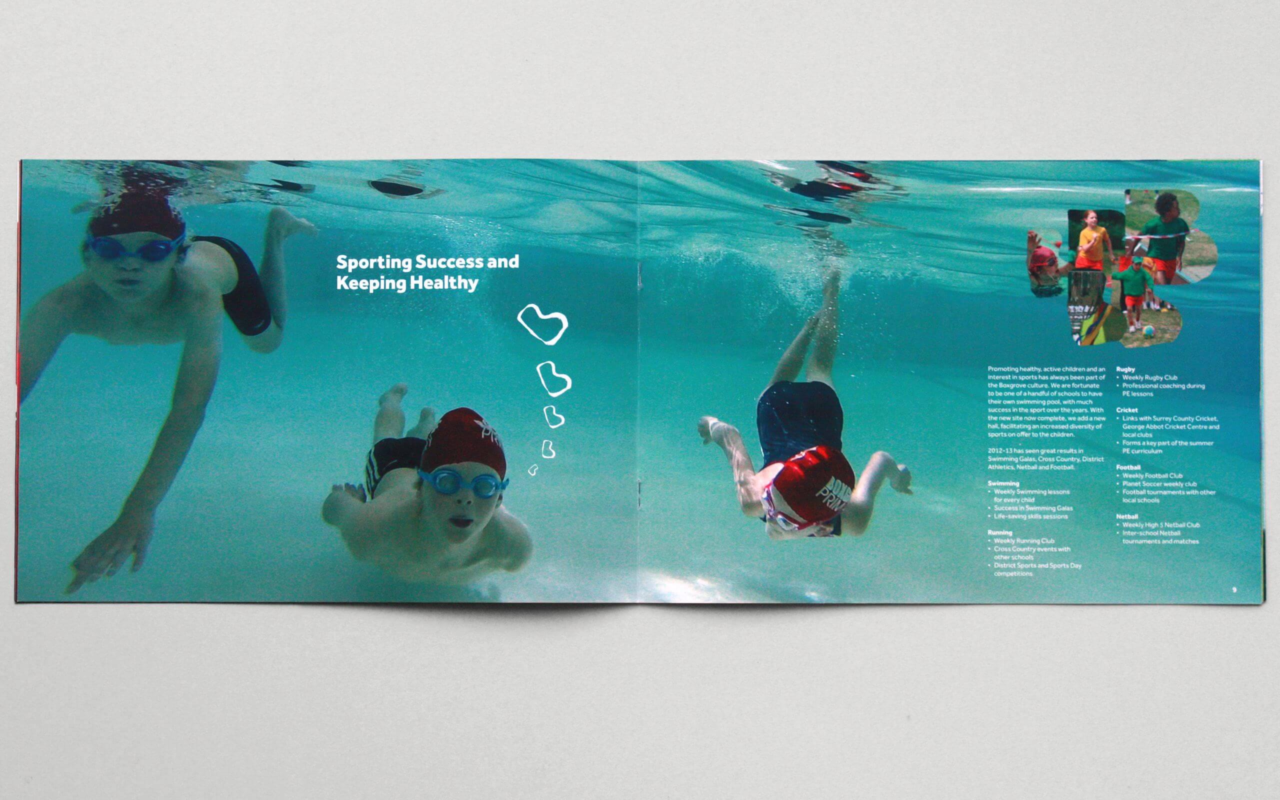 Boxgrove Primary School Guildford brochure spread