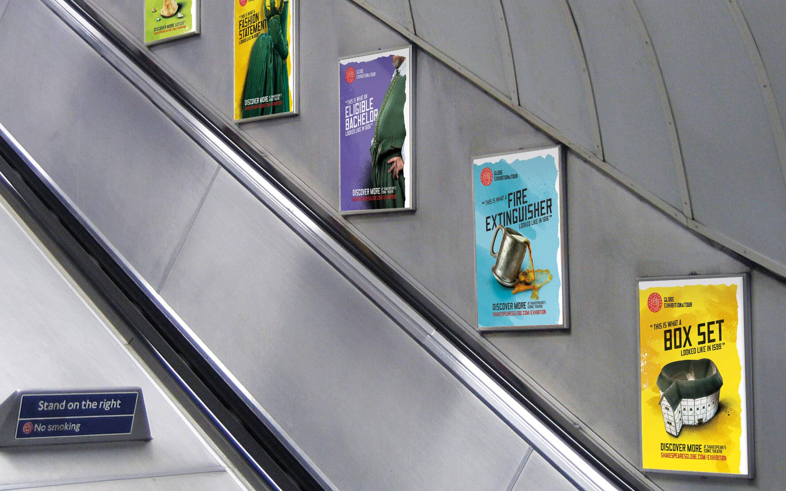 Globe tube adverts campaign