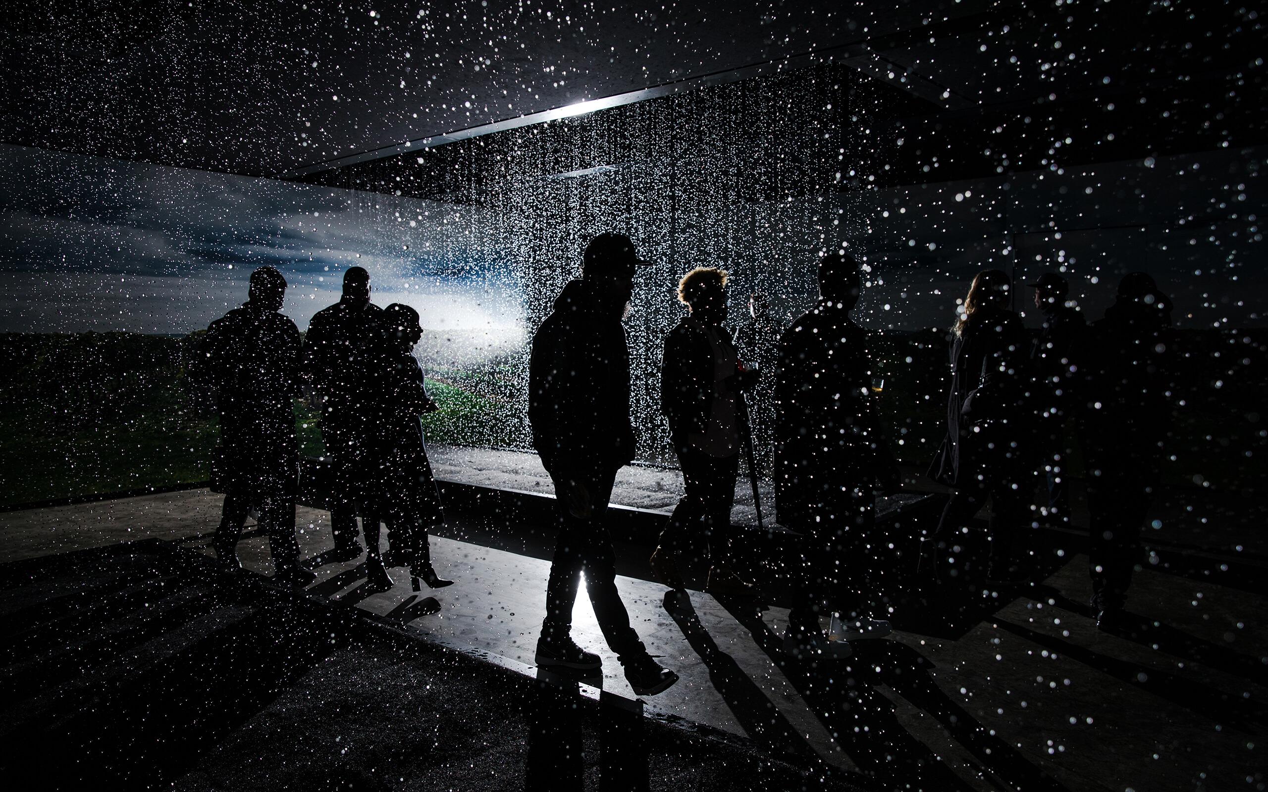 Rain room experience