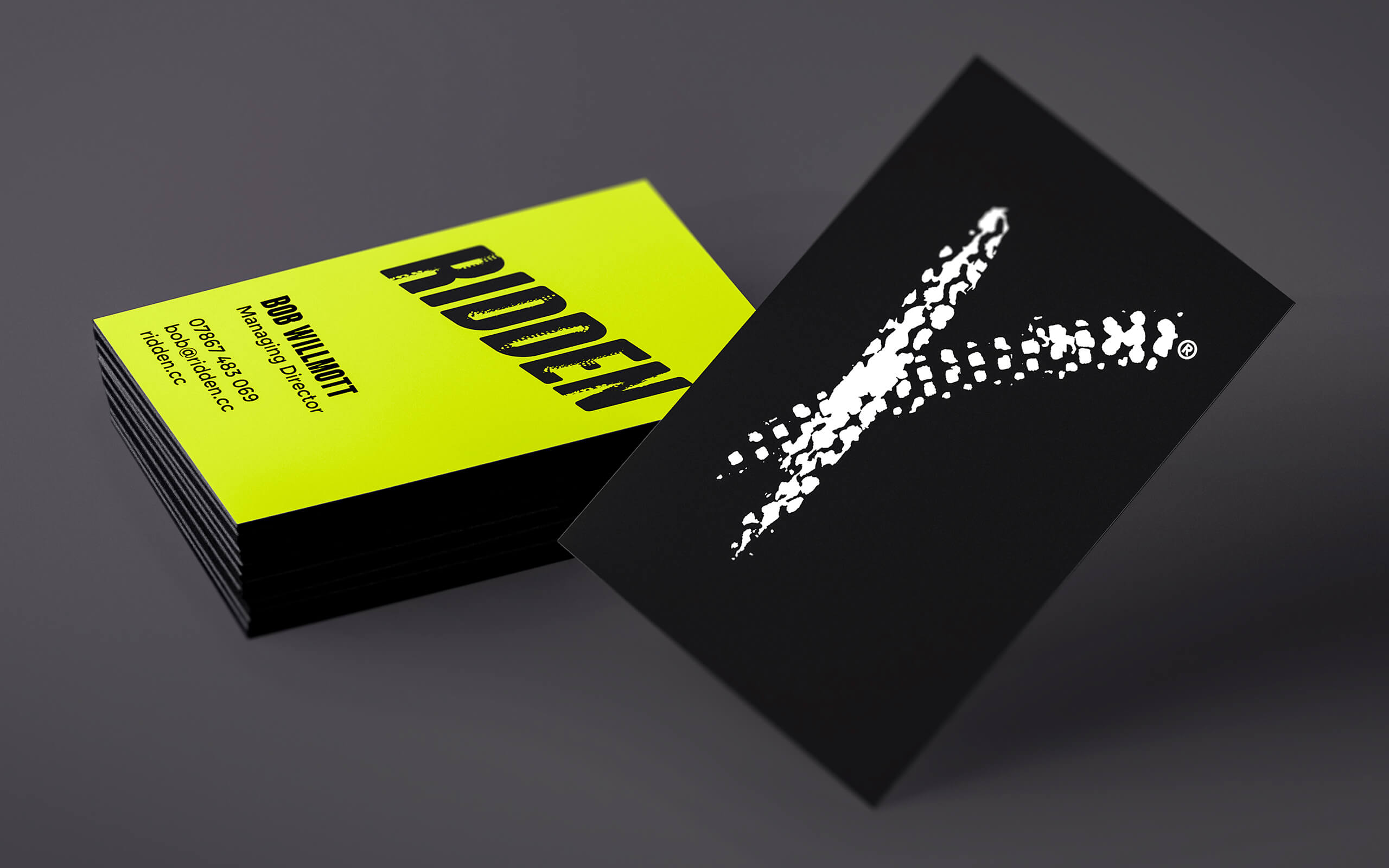 Ridden cycling business cards