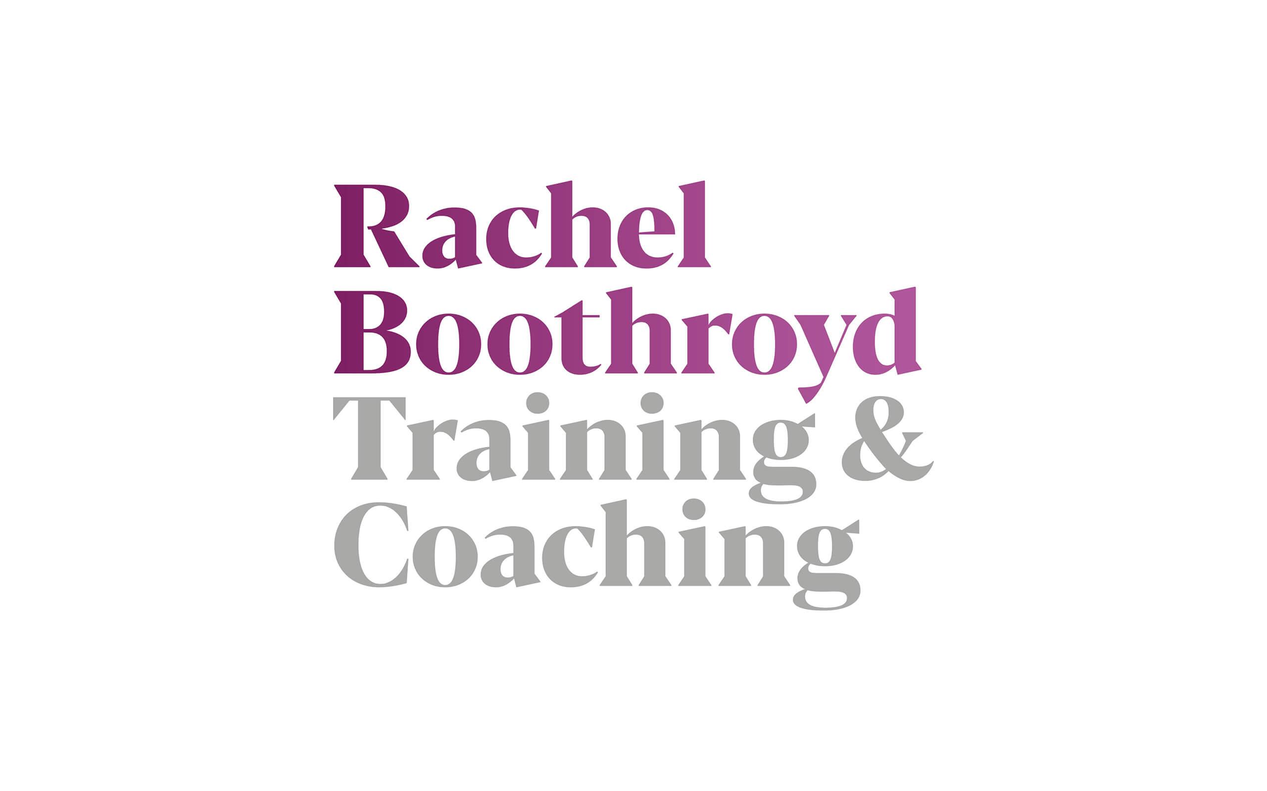 Rachel Boothroyd Training and Coaching brand logo