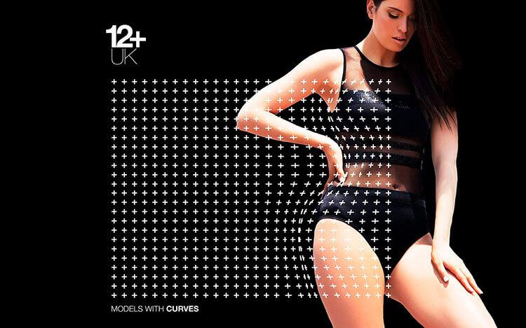 12+ Uk model agency brand key visual.