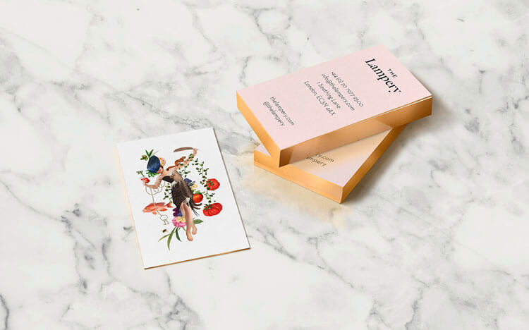The Lampery business cards stationery